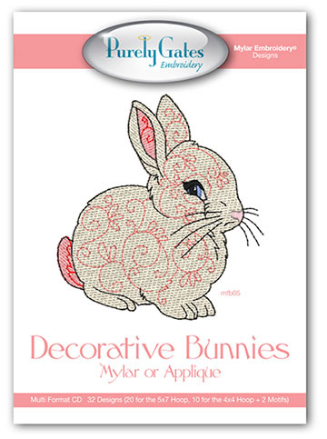 Decorative Bunnies Mylar or Applique
