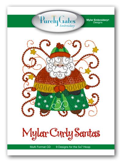 Mylar Curly Santas