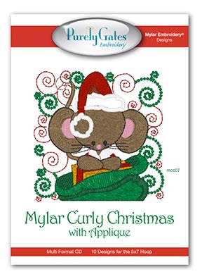 Mylar Curly Christmas with Appliqué