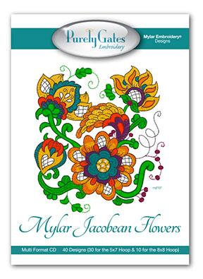 Mylar Jacobean Flowers