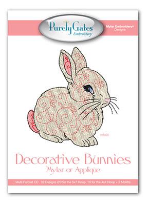Decorative Bunnies Mylar or Applique
