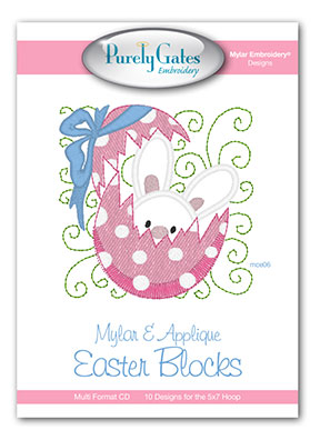 Mylar and Applique Easter Blocks