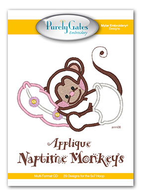 Applique Naptime Monkeys