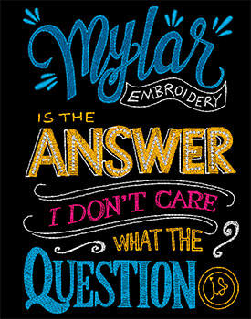 Mylar Chalkboard Art — Purely Gates Embroidery