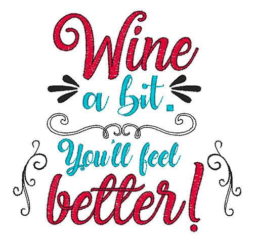 Wine a Bit (8x8)
