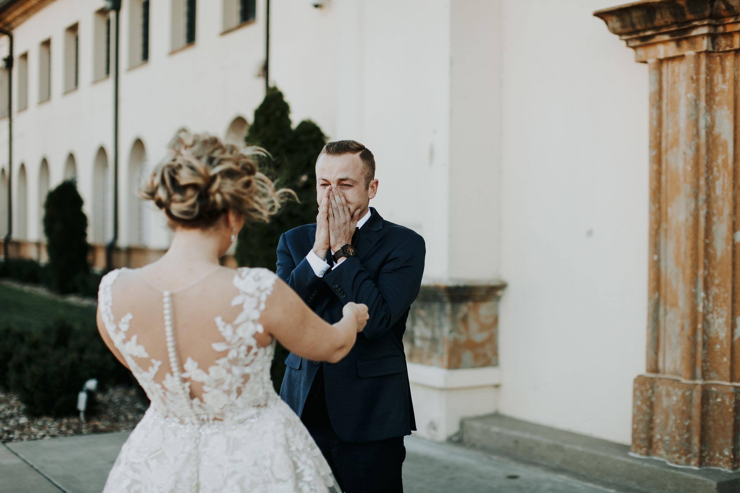 Emotional Wedding Photos   Crying Grooms   Krissie Francis Photo