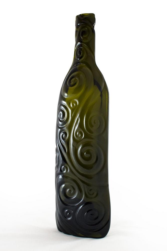 Recycled Glass Bottle - Kiln Formed