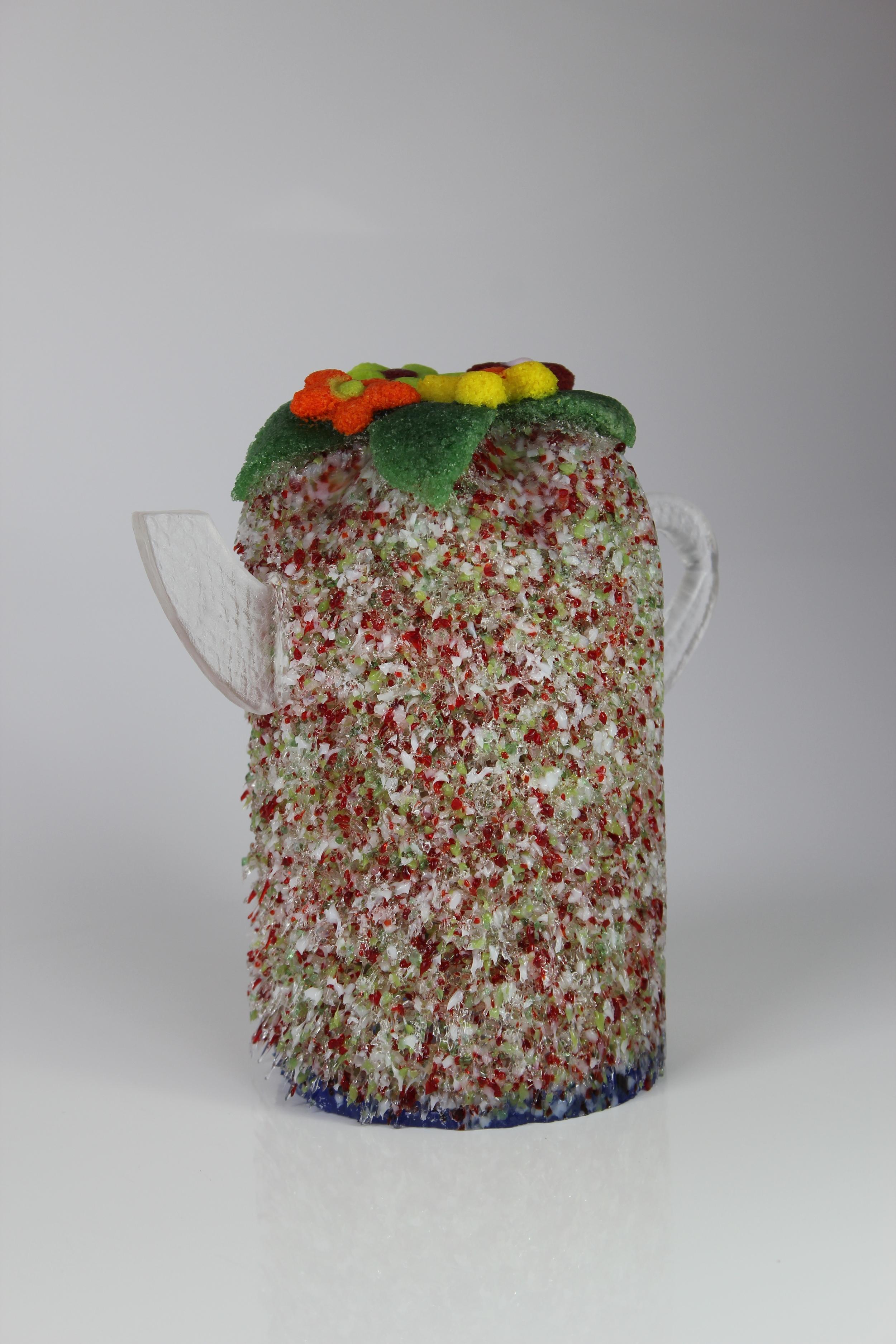 'Cosy Tea' - Pate De Verre & cast glass handle & spout