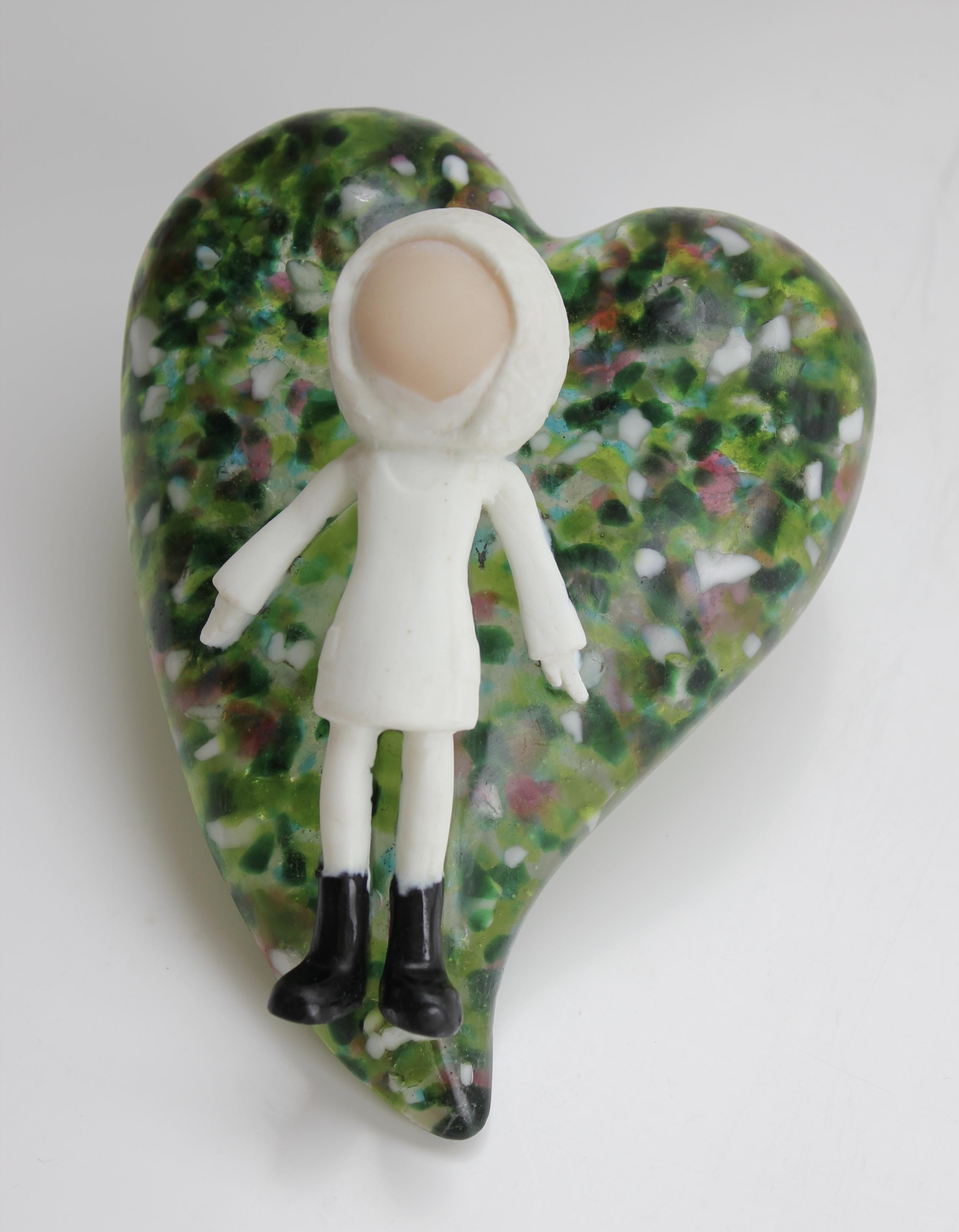 'Daydreamer' - Pate De Verre - Kiln Cast Glass