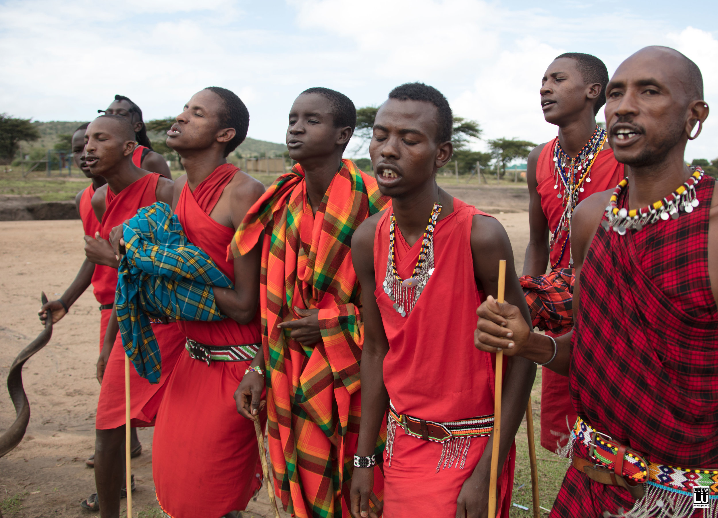 Soon the men showed up and started to sing for me.