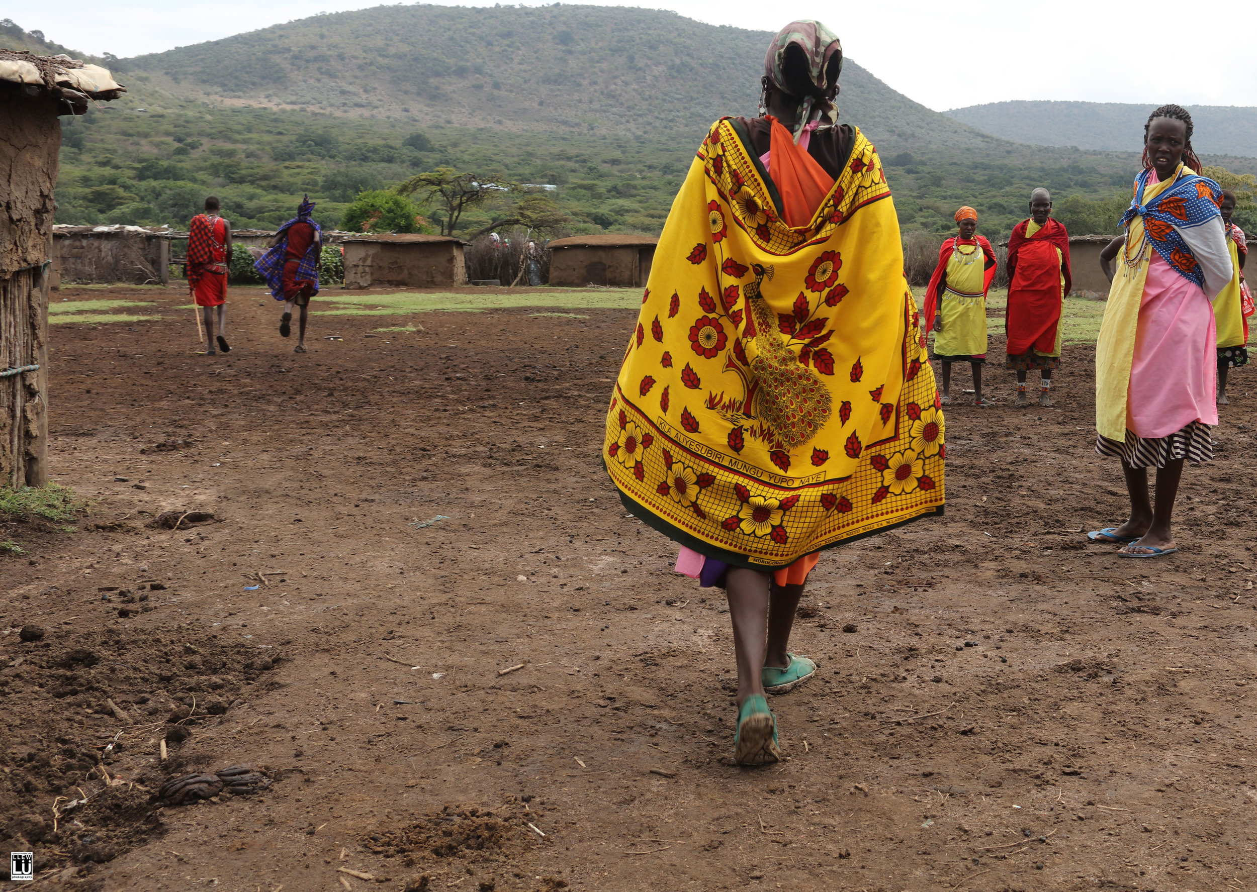 They then lead me into their village. One of the first things that was mentioned to me was that the Maasai are a polygamist community. The women have one home and the men have multiple homes.  I learned that the women are typically circumcised between the ages of 11-13 and soon after, traded to a husband for cattle and cash. It is a transaction made by the fathers. The boys are circumcised between the ages of 7-20, depending on maturity.