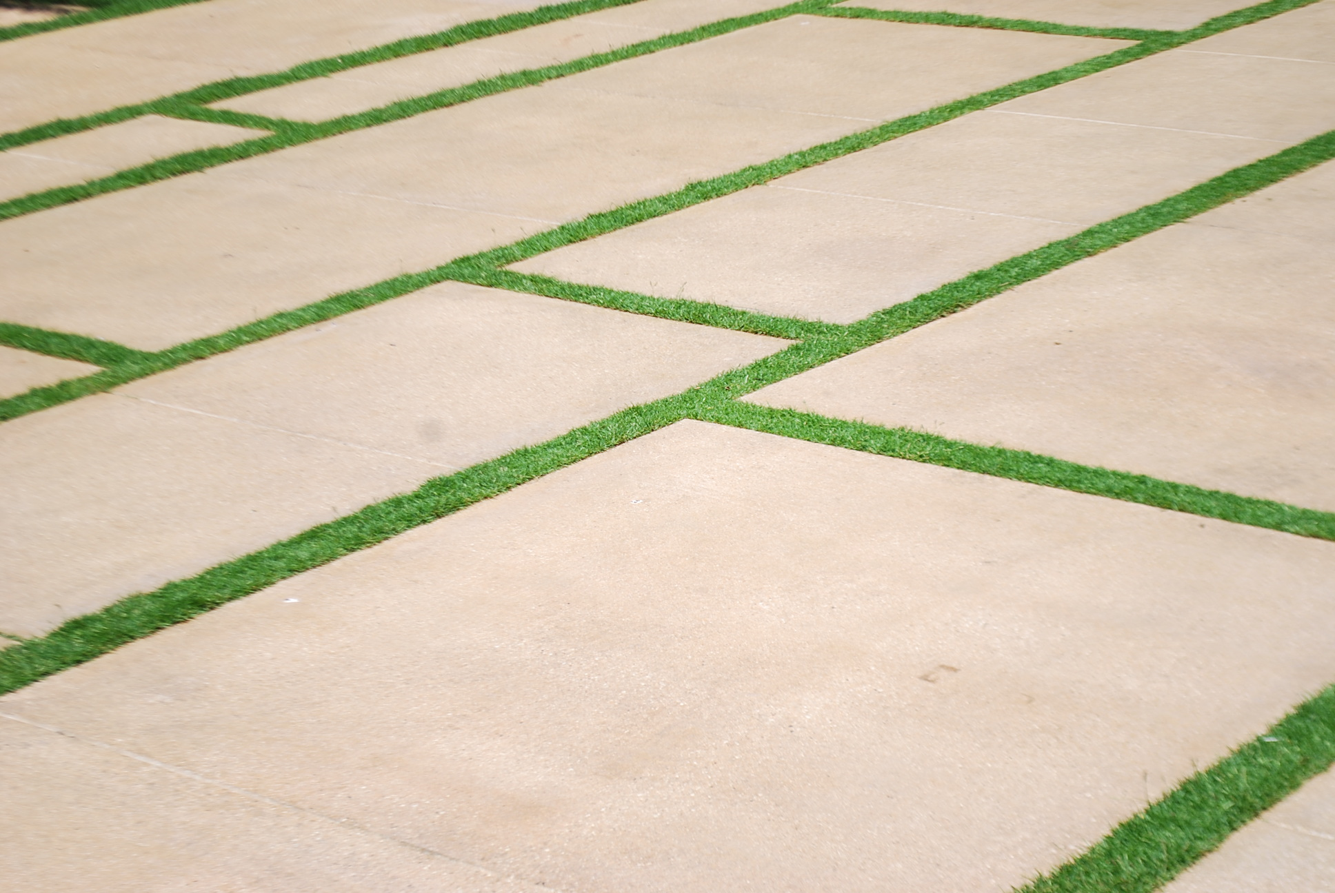Slab with Grass Border