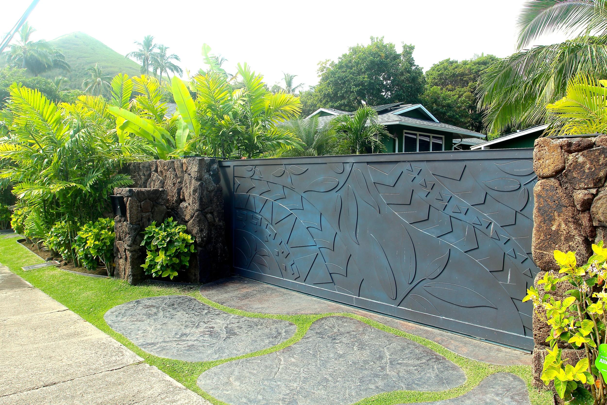 Lava-rock Privacy Wall