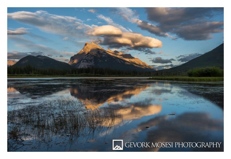 gevork_mosesi_photography_landscape_banff_alberta_canada_verilion_lake_mount_rundle_mt_sunset_2.jpg
