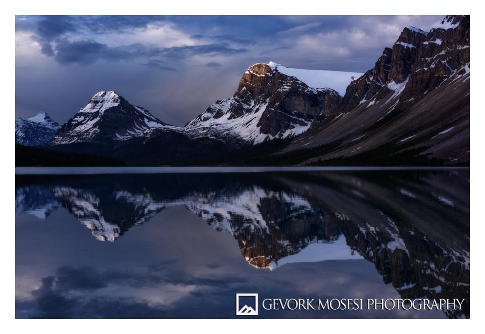 gevork_mosesi_photography_banff_alberta_landscape_bow_lake_nam_ti_jah_sunrise_reflection_canada_rockies-1.jpg