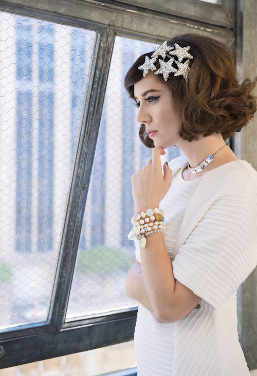 Model, Amy Roiland of  A Fashion Nerd ; Photography by  Bobby Do Right ; dress by Public School; jewelry by  Tarina Tarantino ; Styled by  The MiA Project .