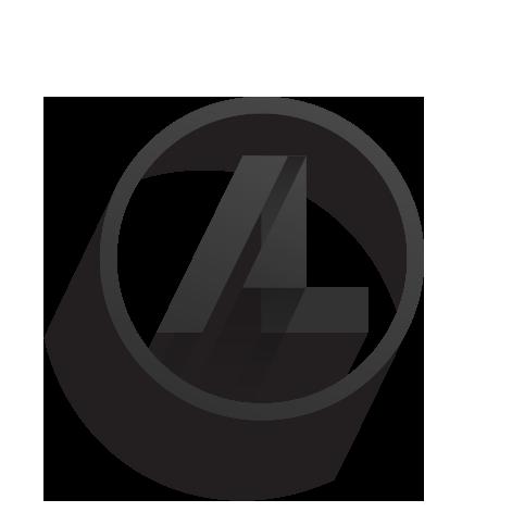heislockwood logo  personal identity, long shadow, monogram