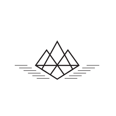 Cliff Divers logo  consulting, hipster, startup, geometric