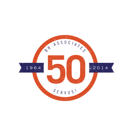 Servus! 50th Anniversary logo  food service, hospitality, celebration
