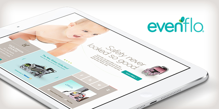 Evenflo eCommerce website design for desktop and mobile.