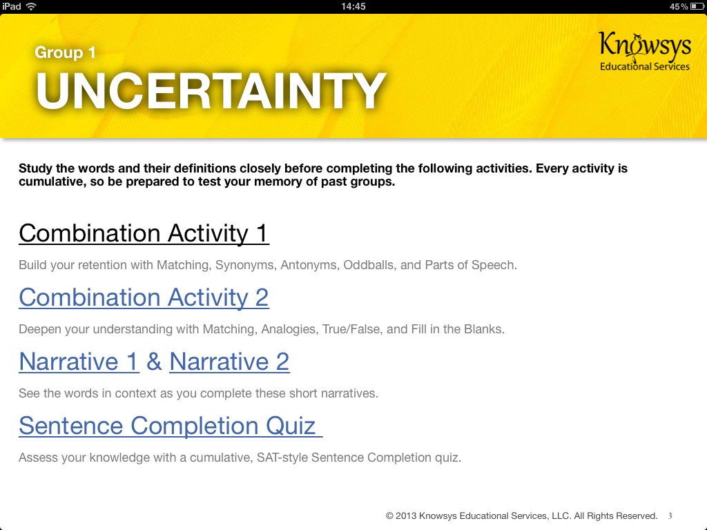 eBook Activities — Knowsys Educational Services