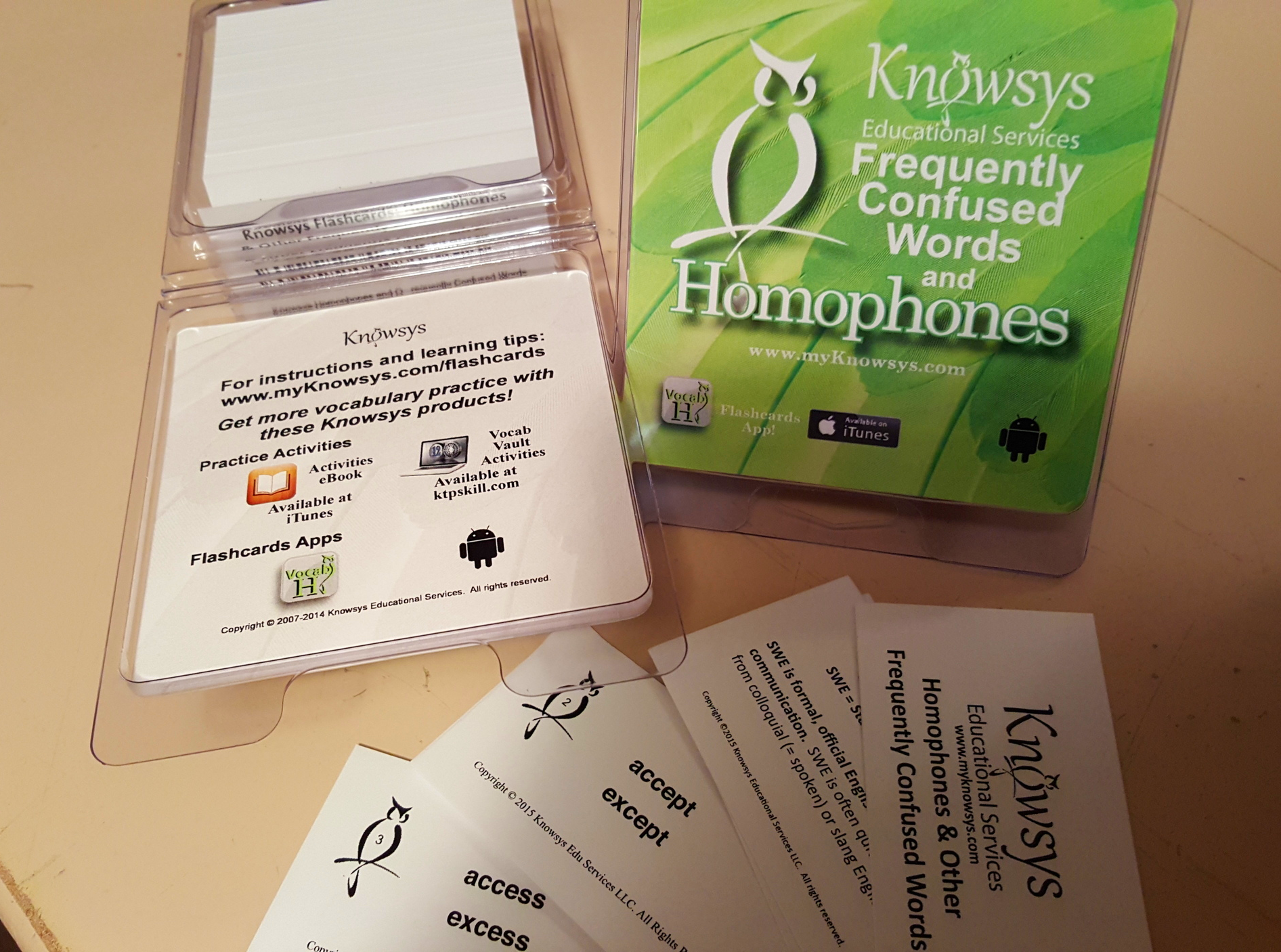 The first boxes of our new Homophones Flashcards have just been printed!
