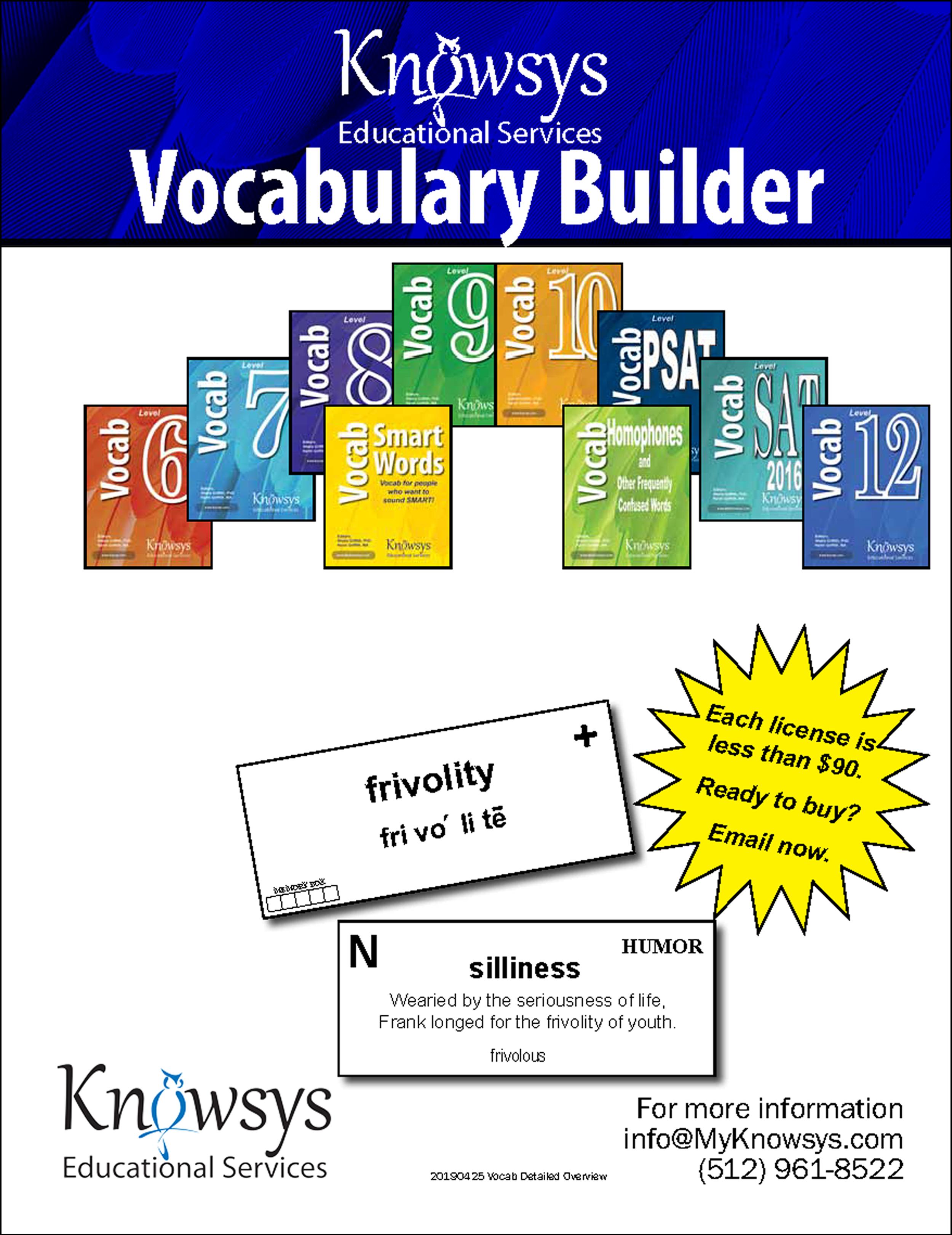 Vocabulary Program Details