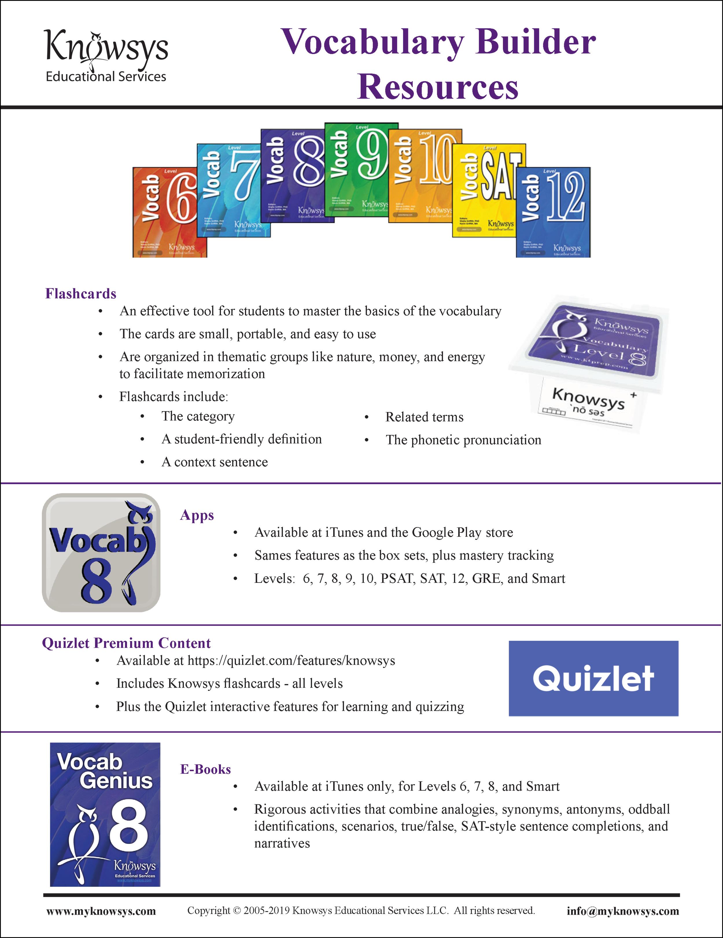 Vocab Resources Flyer