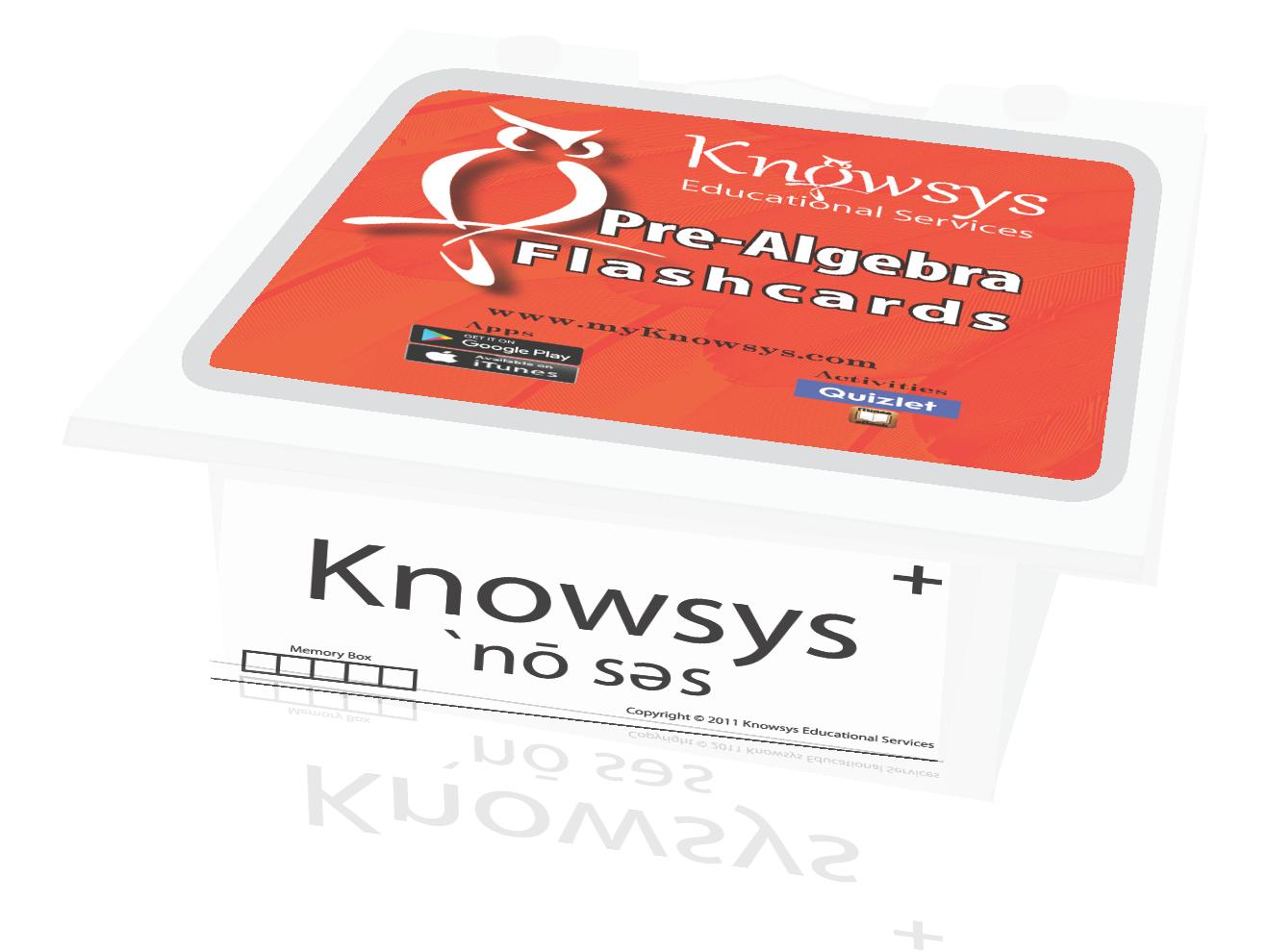 Pre-Algebra Flashcards