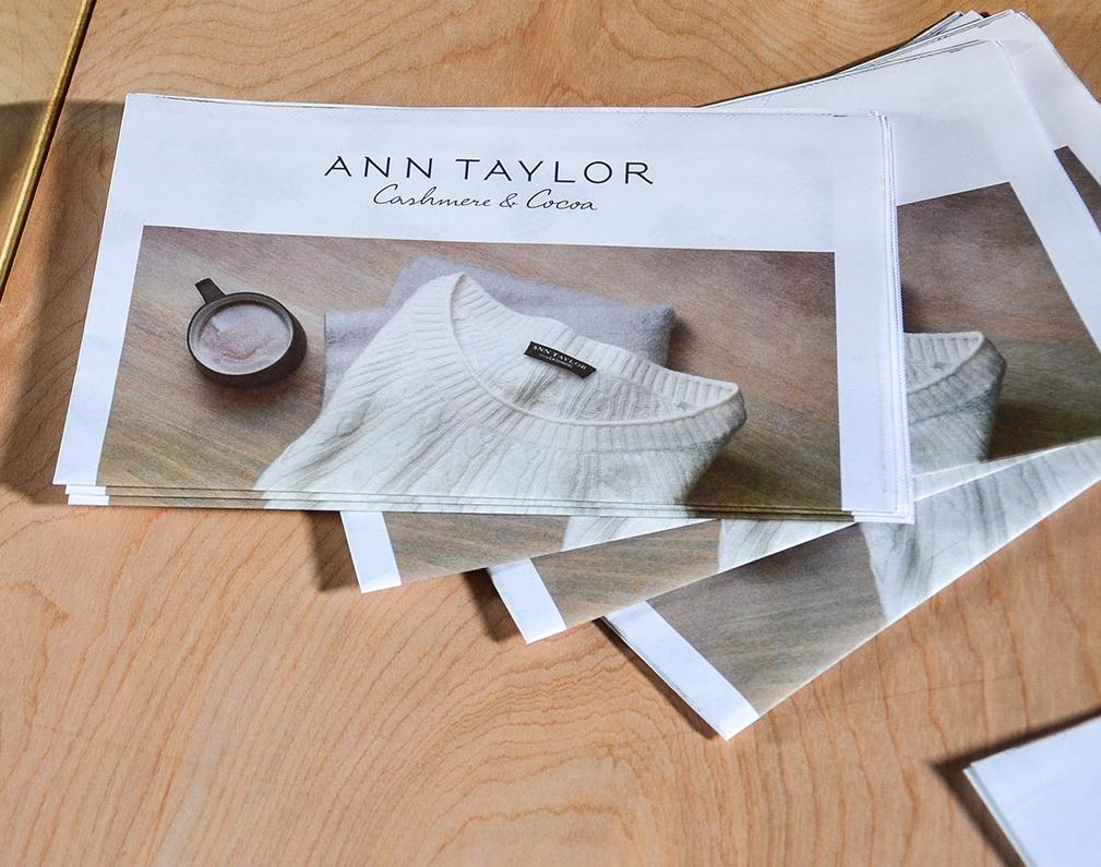 Ann Taylor | Cocoa & Cashmere Experiential & Print Concept