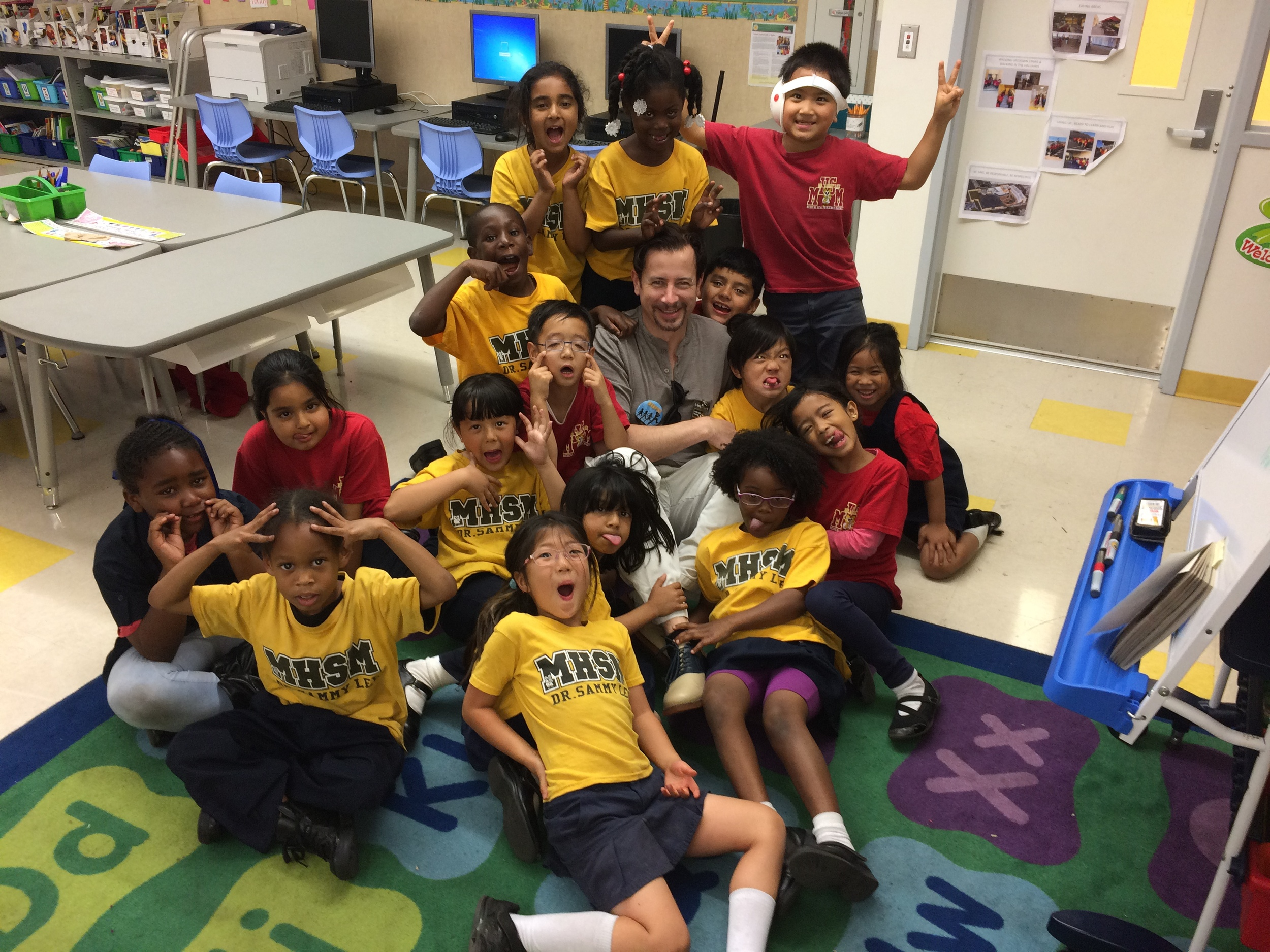 "The great kids of the ""BookPals"" volunteer program in LA"