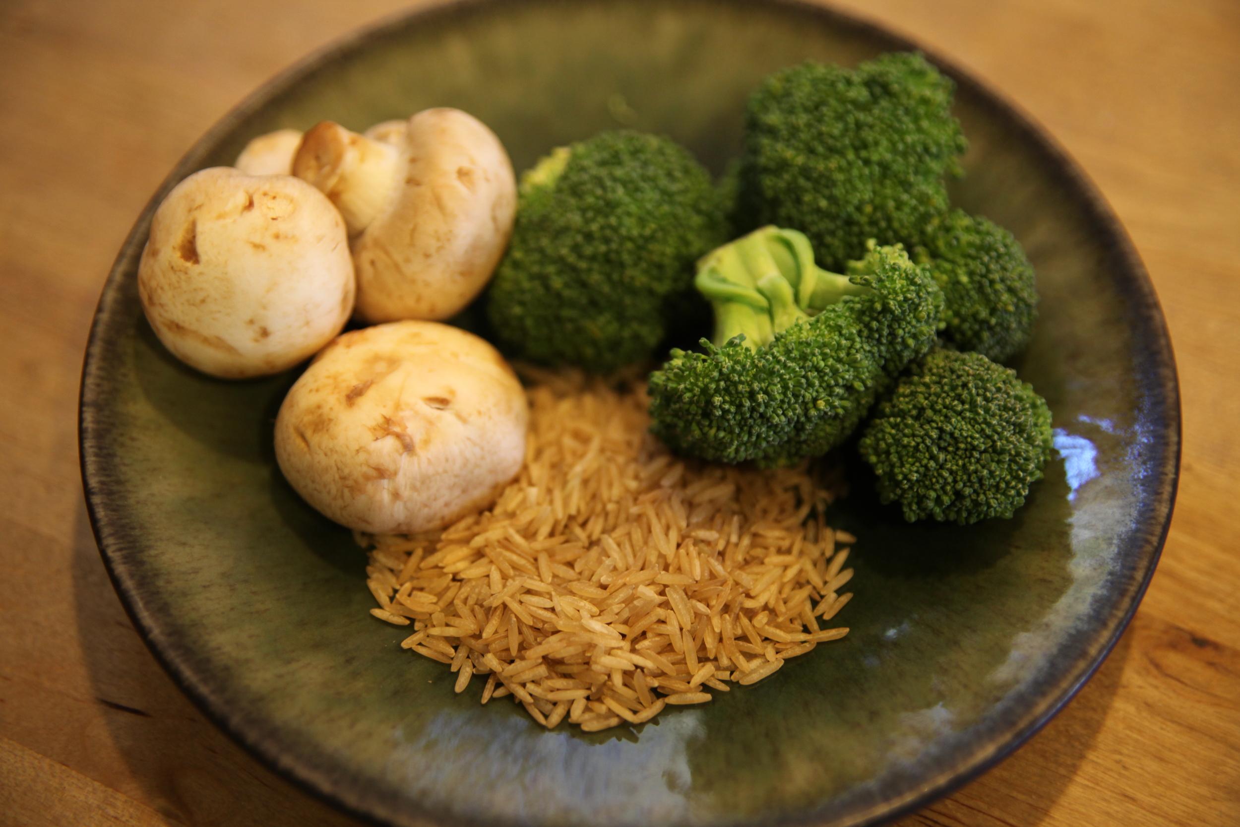 broccoli, rice, mushrooms.JPG