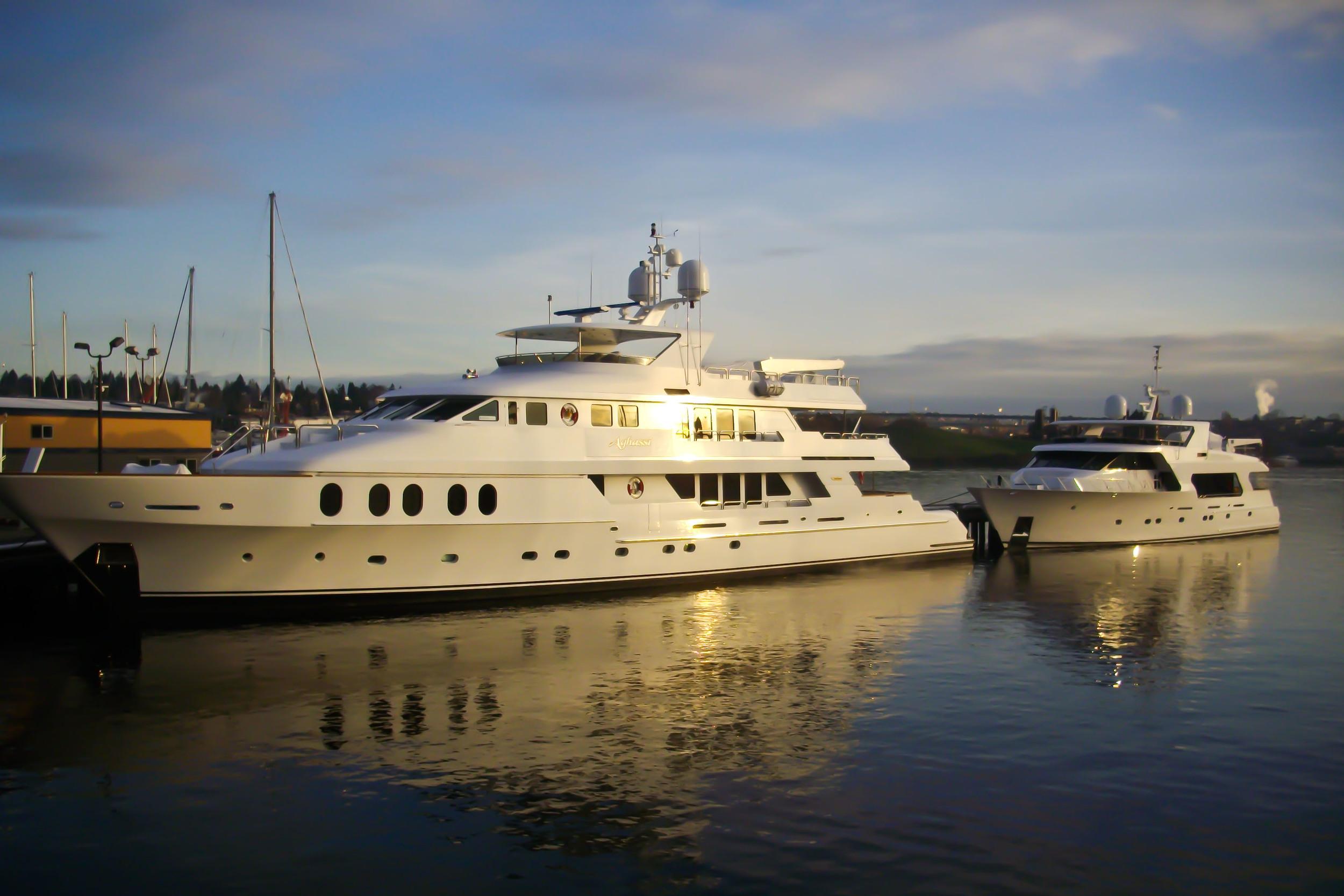 Superyacht on Water
