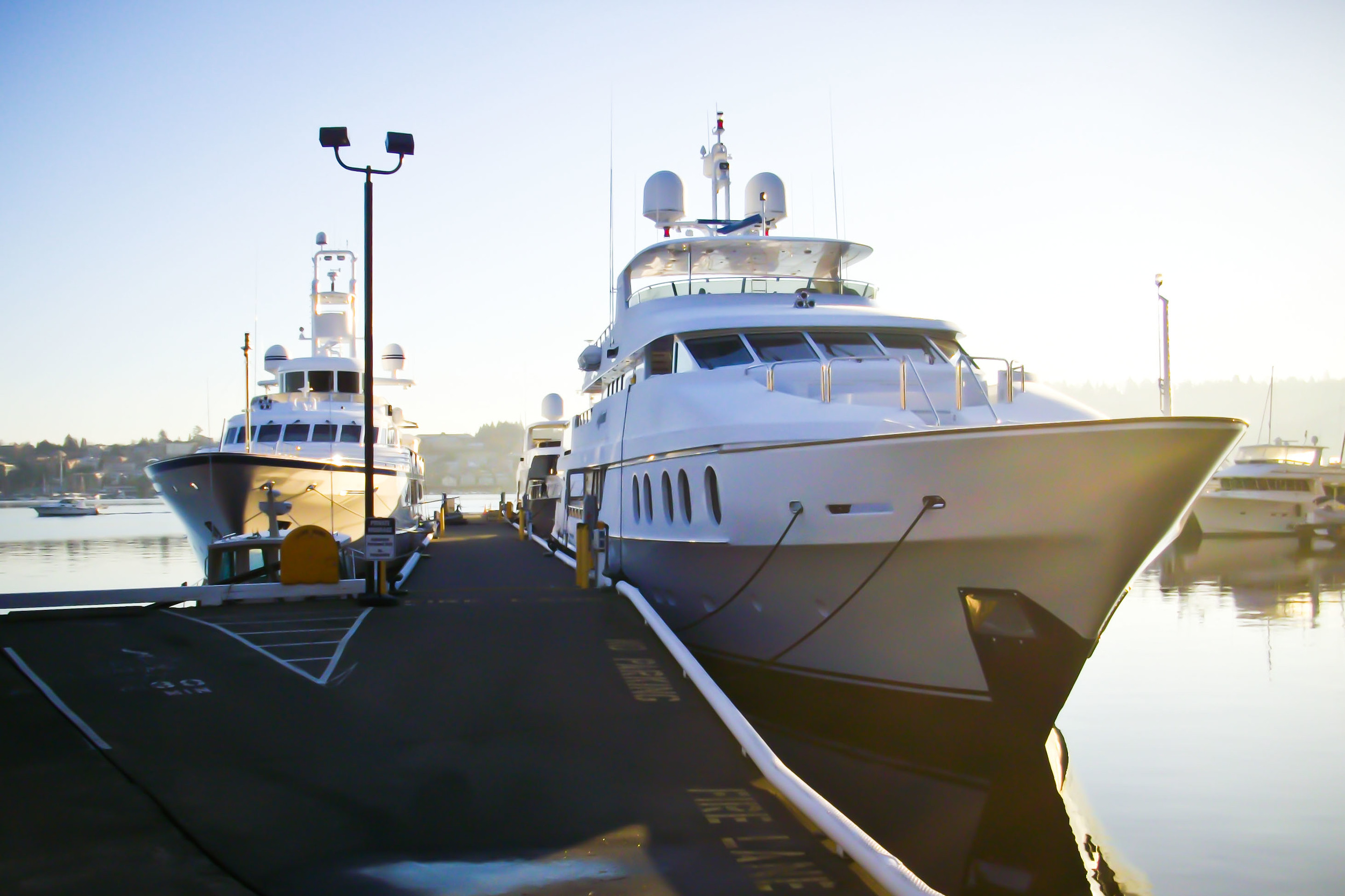 Superyacht Docked