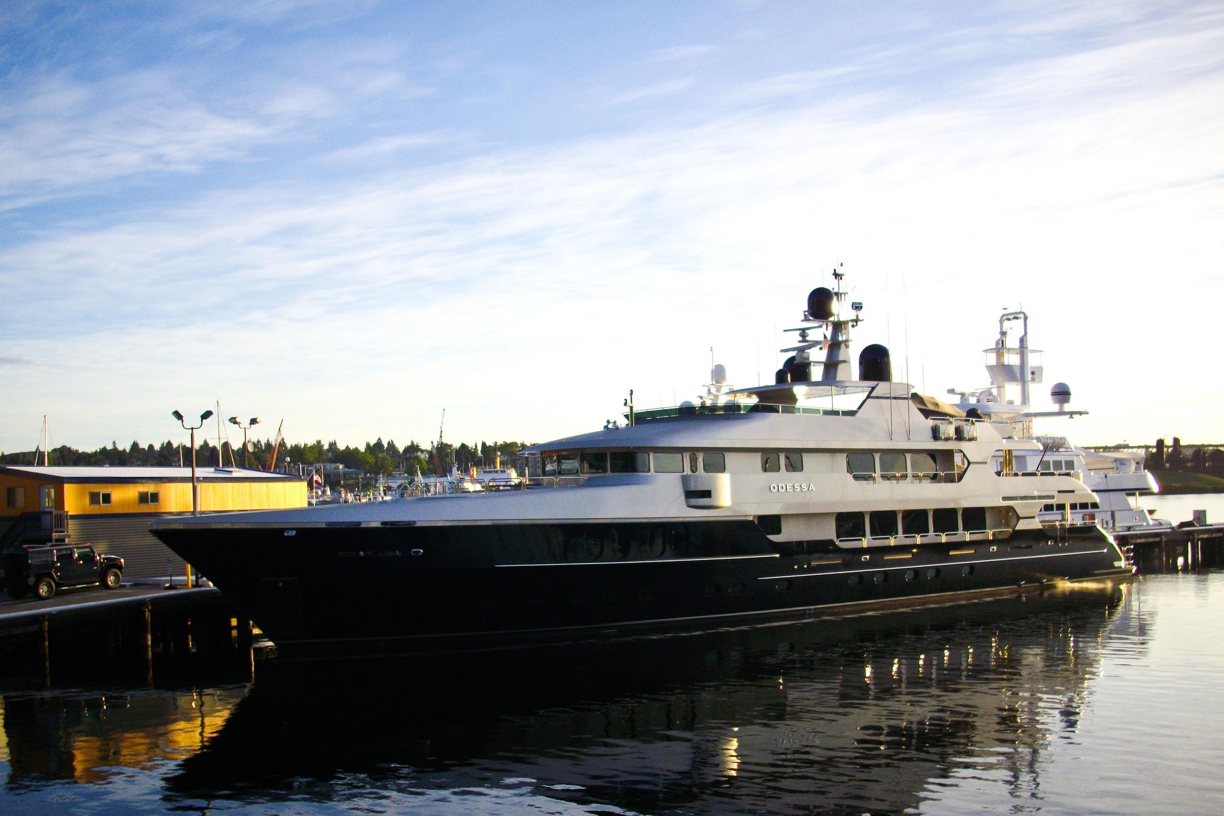 yacht at nautical landing
