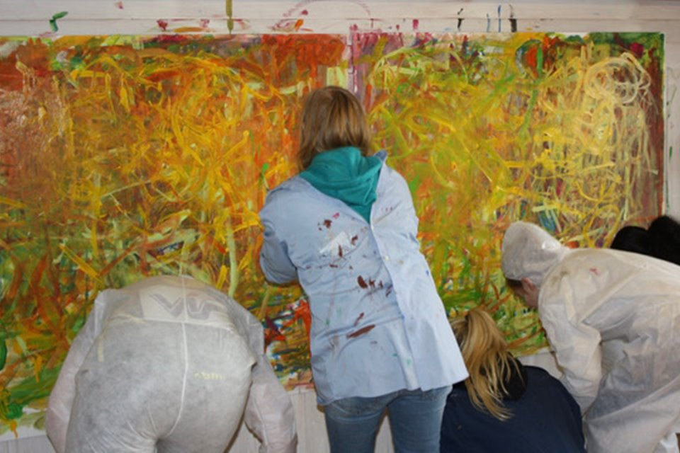 Collaborative painting workshop Creative Iceland 5