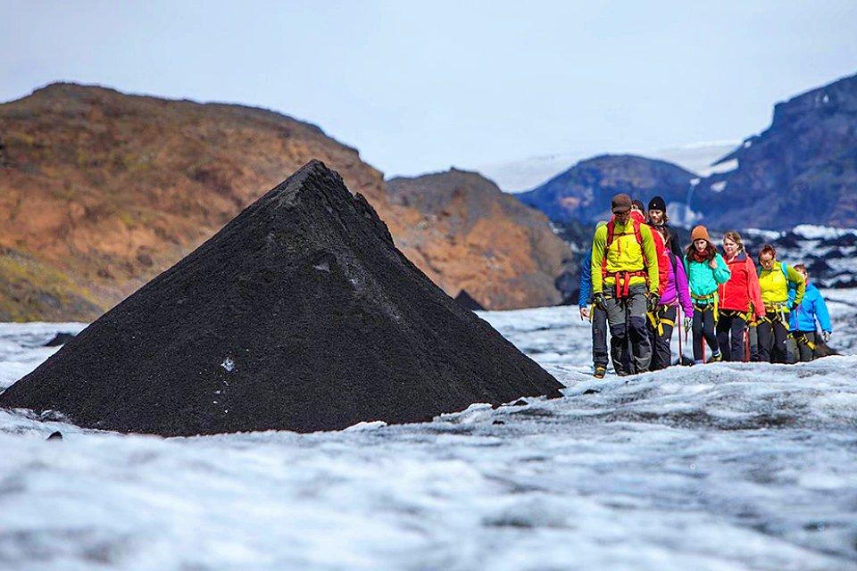 TAKE A WALK ON THE ICE SIDE - GLACIER WALK - Glacier, Waterfalls And Plane Wreck