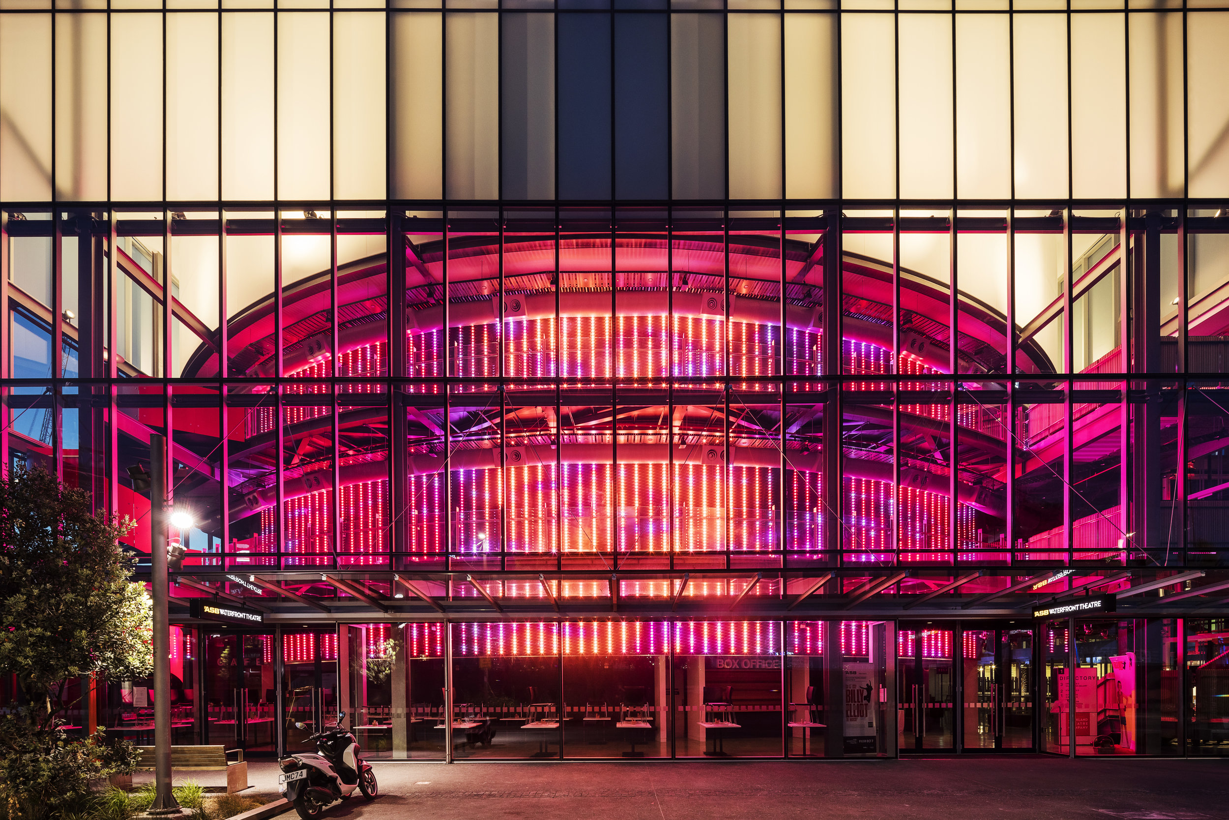 Light Matrix (Auckland) , 2016  Site-specific installation: Auckland Theatre Company, Auckland, NZ