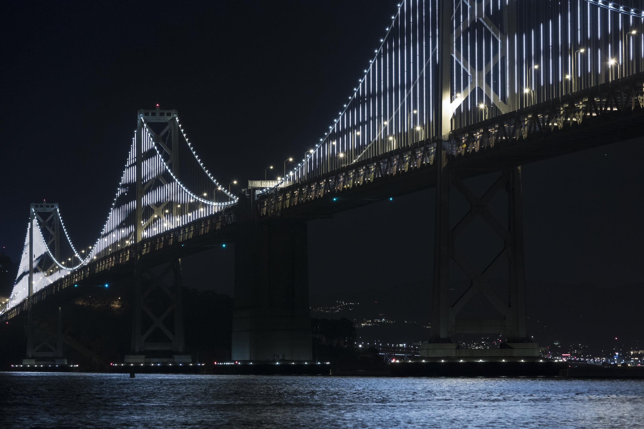 The Bay Lights , 2013  Site-specific installation: The Bay Bridge, San Francisco, CA
