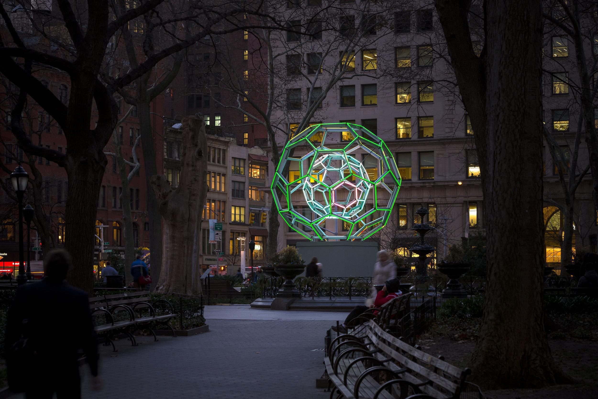 Buckyball , 2012  Temporary site-specific installation: Madison Square Park, New York, NY