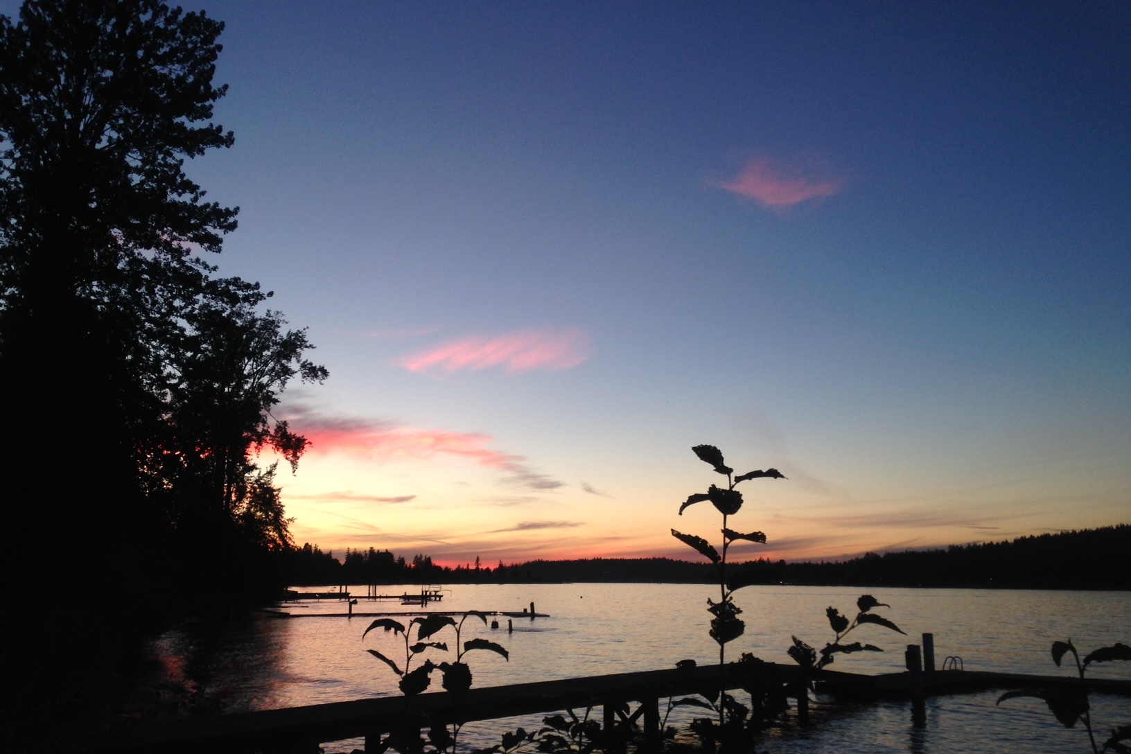 Sunset on Lake Whatcom. Can you believe those colors are even real?