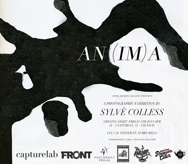 """Sylve Colless's  exhibition """"AN(IM)A"""" is a photographic exploration into Carl Jung's physiology which she has derived her personal theory that personal wholeness can't be acheived without embracing the positive and negative aspects of ourselves - the light and dark, the concious and inconcious elements of the psyche.    """"AN(IM)A"""" opens next Friday the 5th of July from 6PM at China Heights Gallery, Surry Hills. AN(IM)A will be open for viewing from 12-5PM on Saturday the 6th and Sunday 7th 12-4PM.  Wish I could make...Goodluck! x"""
