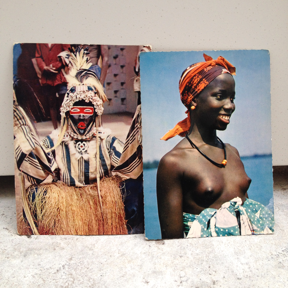 i bought these two vintage postcards from a street vendor in paris.