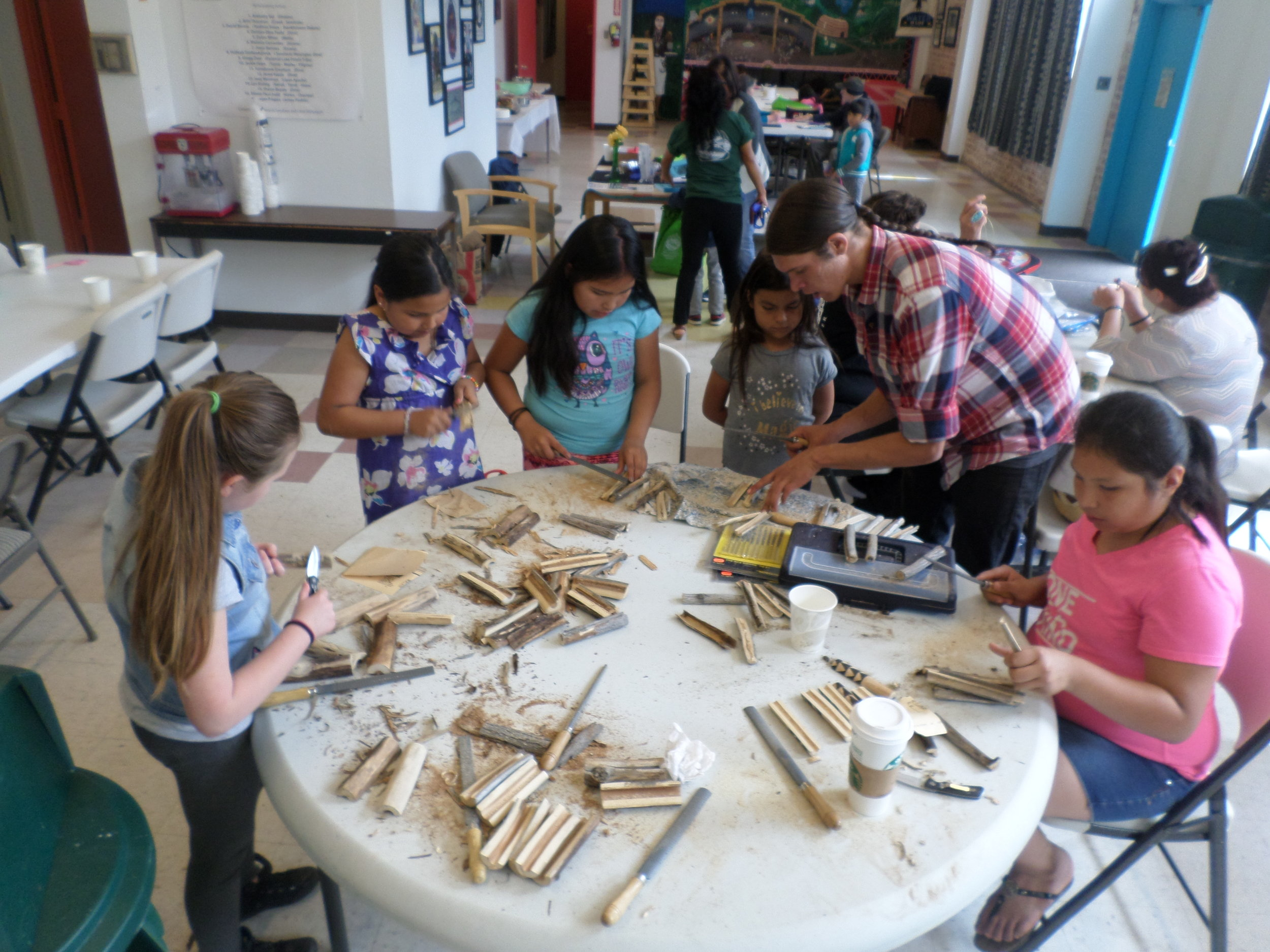 Washoe Elderberry Staves Making -