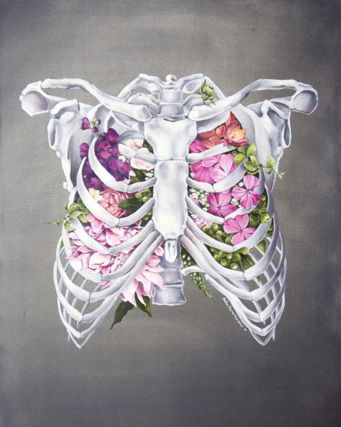 Floral Anatomy Ribcage (ITEM NO: 013)  Print Size: 8x10 inches  $12.50 Wholesale at 50% off  $25 RRP