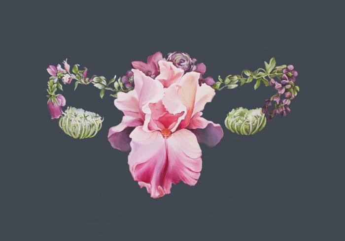 Floral Uterus (ITEM NO: 015)  Print Size: 8x10 inches (landscape)  $12.50 Wholesale at 50% off  $25 RRP