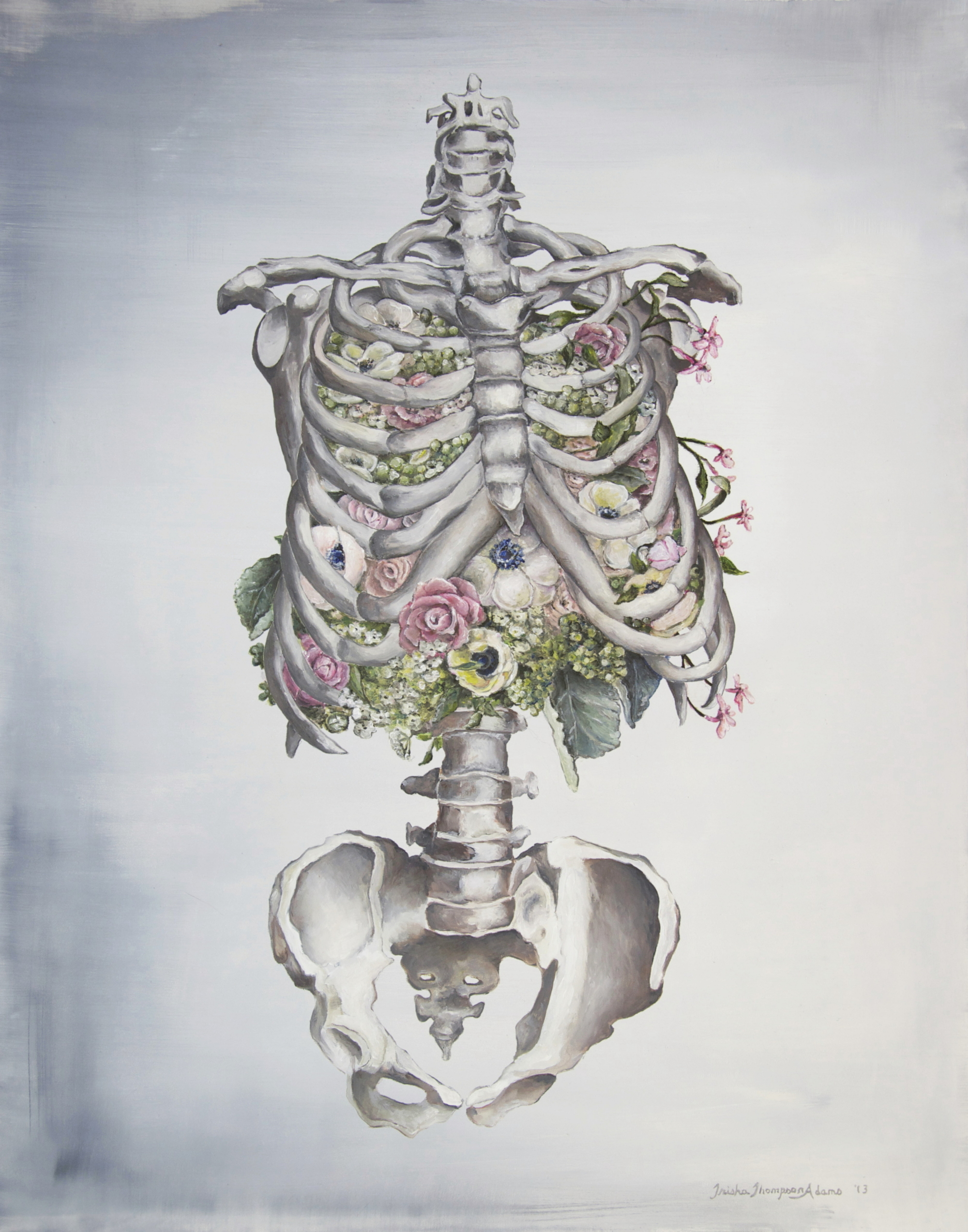 Floral Anatomy Skeleton (ITEM NO: 012)  Print Size: 8x10 inches  $12.50 Wholesale at 50% off  $25 RRP