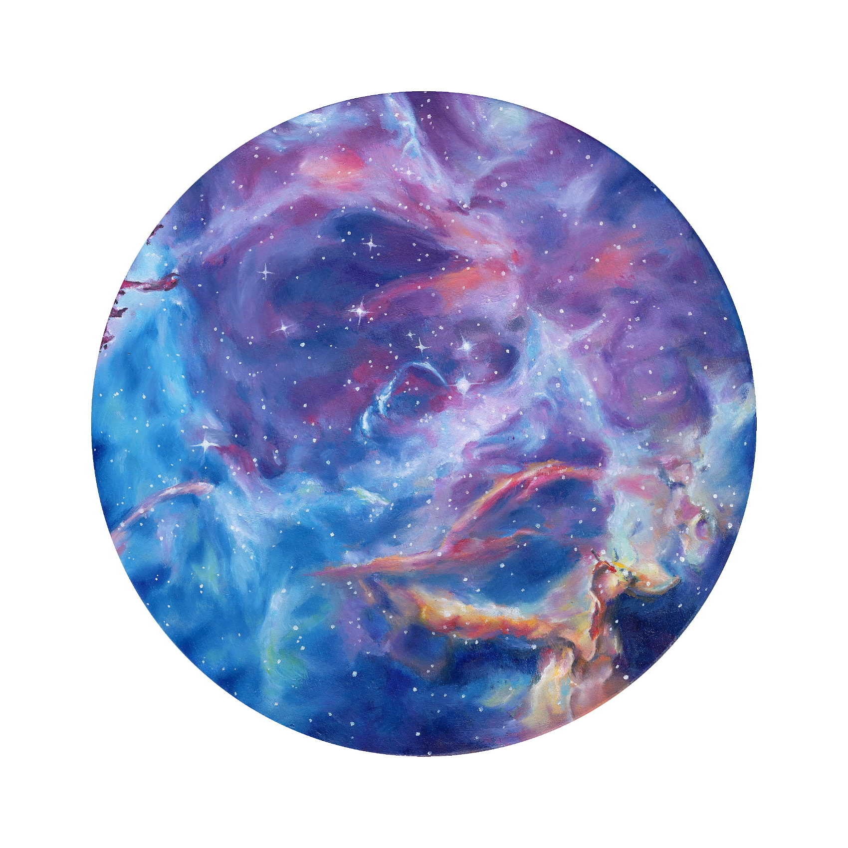Rosette Nebula (ITEM NO: 002)  Print Size:8x8 inches  $12.50 Wholesale at 50% off  $25 RRP