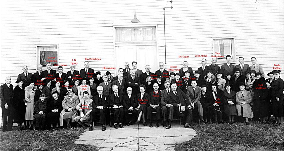 Lexington Presbyterian Church congregation on the church's 120th anniversary, in 1938.