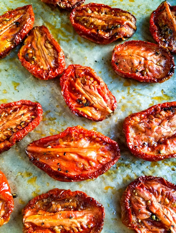 Grape Tomatoes after 2 hours in the oven